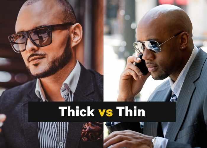 Thick Vs Thin Sunglasses Frames Bald Men