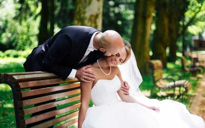 Bald man a marrying How do