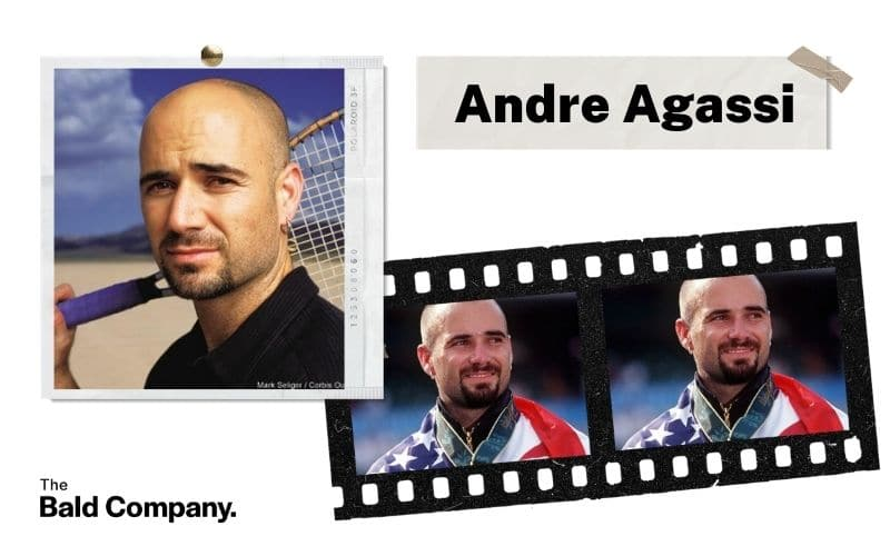 andre agassi goatee and stubble
