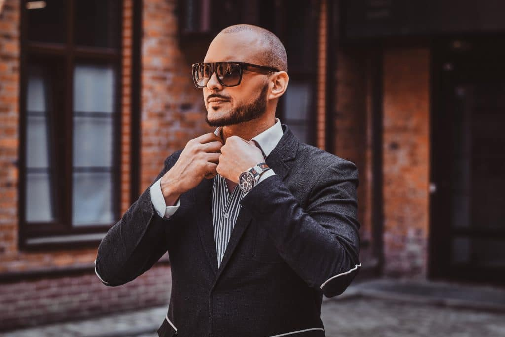 fashion styles for bald men with beards