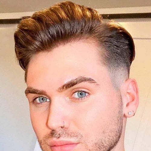 comb over men hair look