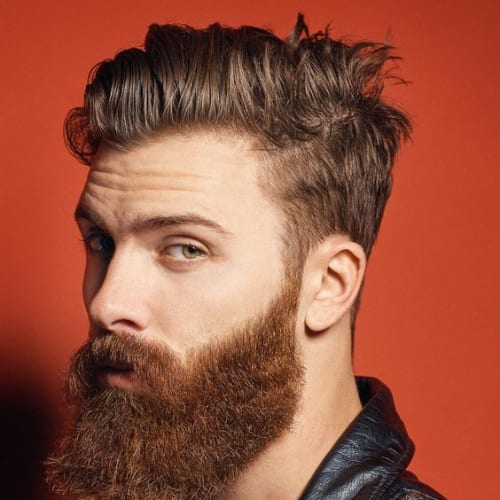 combover with a beard mens grooming style
