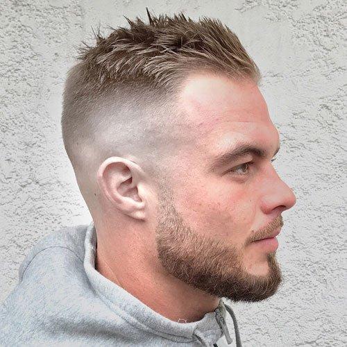 crew cut longer hair men