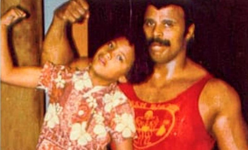 dwayne the rock and rocky johnson father son wrestlers