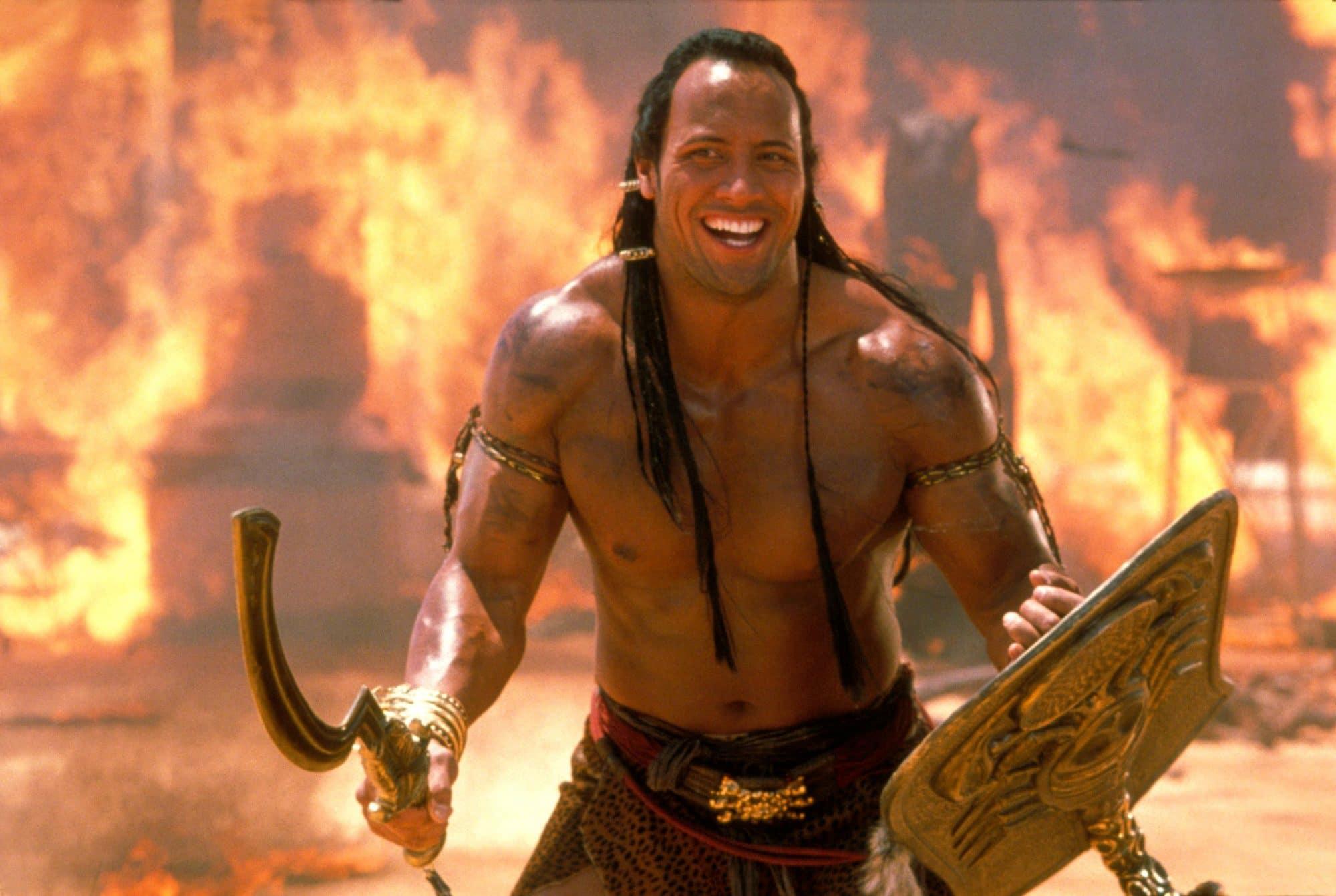 dwayne the rock johnson in the mummy returns