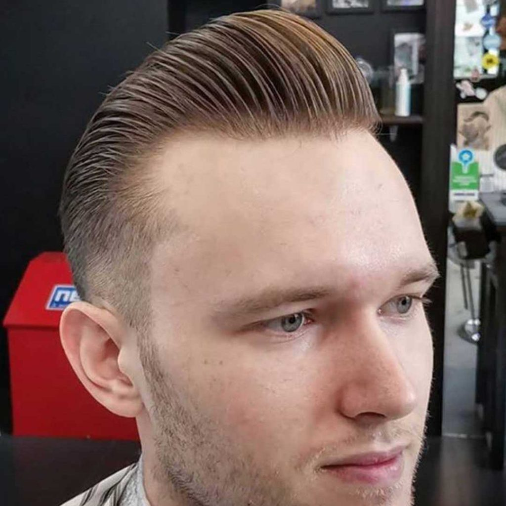 pompadour style for thinning hair