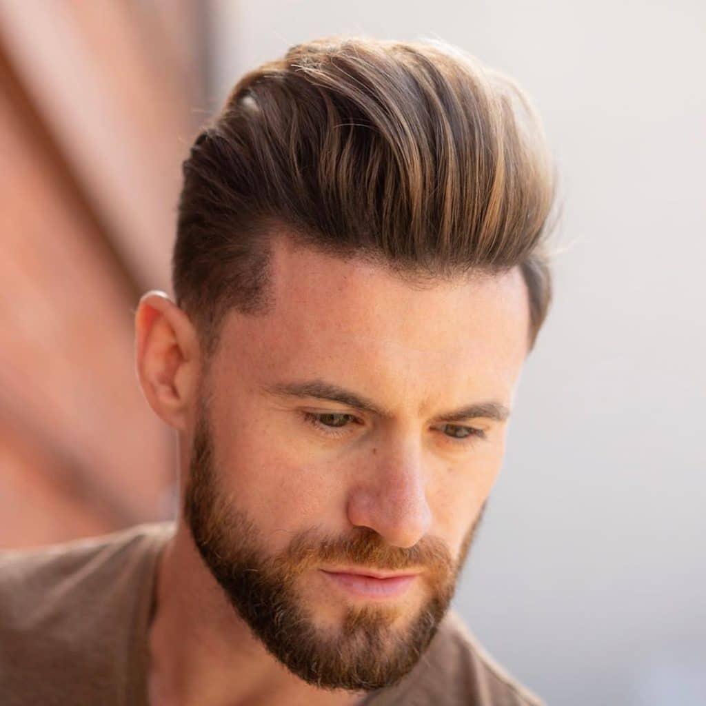 receding hairline hairstyle quiff