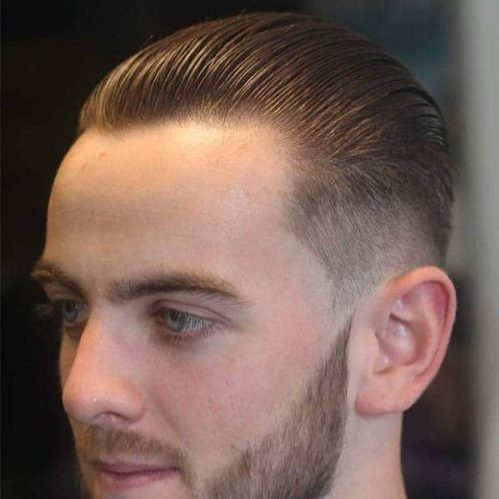 receding hairline young men hairstyle