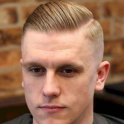 short pomo style receding hairline