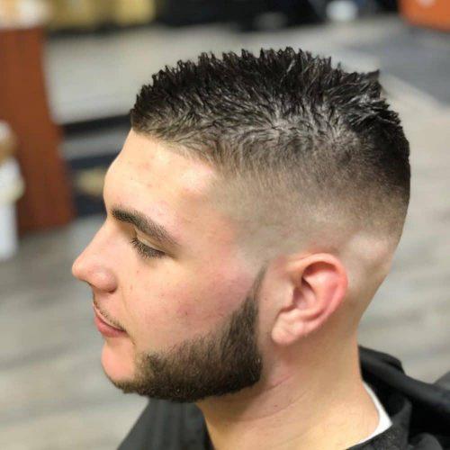 short spiky hair for balding