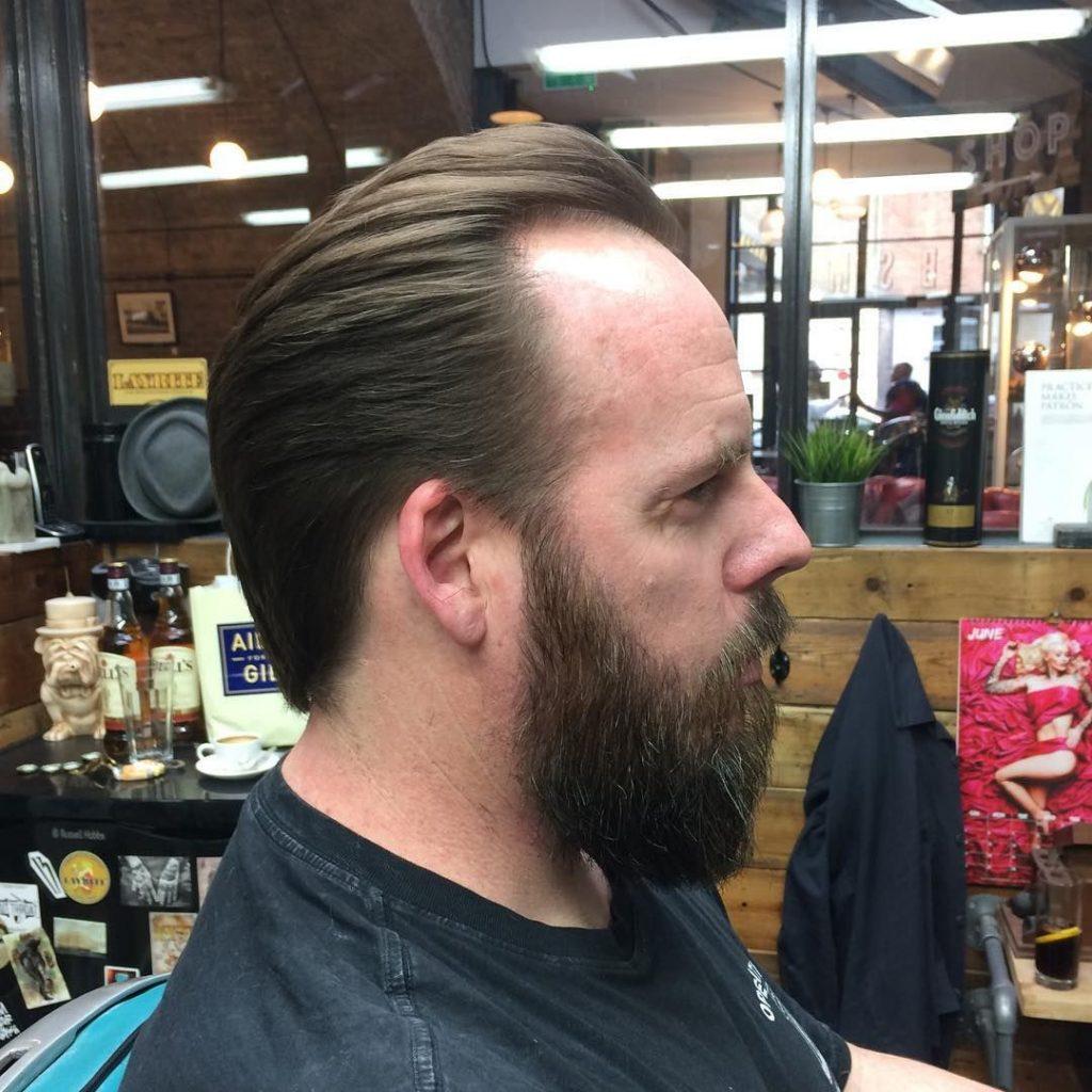 slick back style for receding hairline