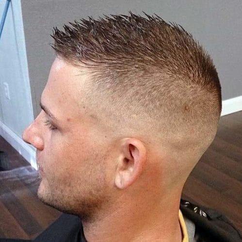 spikey hair look for bald men