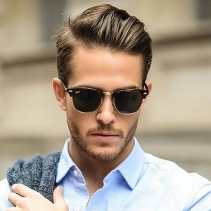 stylish combover for receding hairline